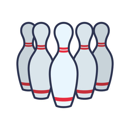 spare: Bowling pins sport game icon vector illustration graphic design