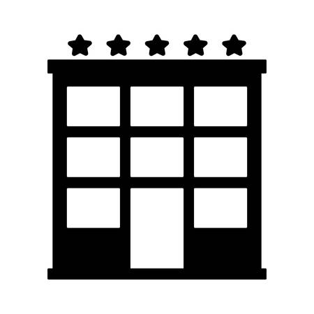 hotel building icon over white background. vector illustration