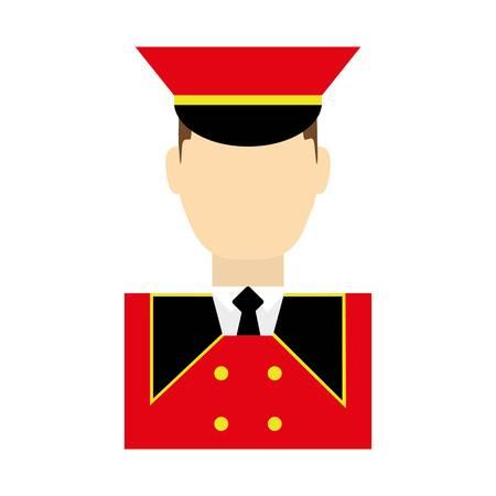 driver man icon over white background. colorful design. vector illustration