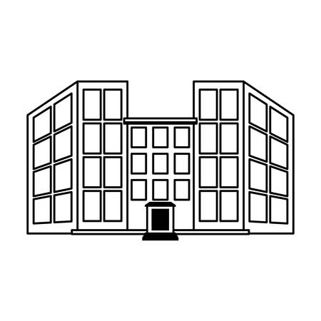 reservation: hotel building icon over white background. vector illustration