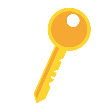 keyword: key icon over white background. colorful design. vector illustration