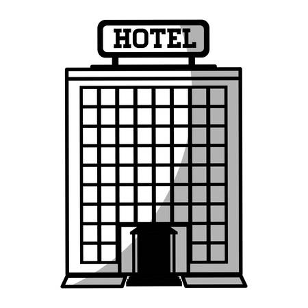 reservation: hotel bulding icon over white background. vector illustration Illustration