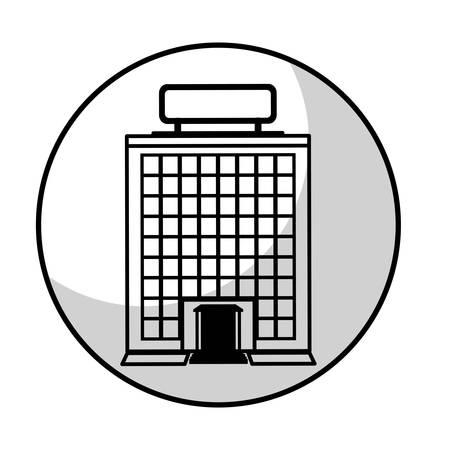 hotel bulding icon over white background. vector illustration Illustration