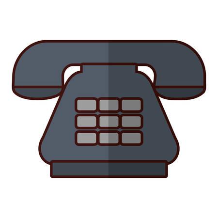 media gadget: Antique telephone communication icon vector illustration graphic design Illustration