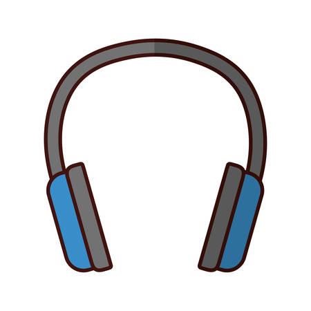 headset audio device icon vector illustration graphic design