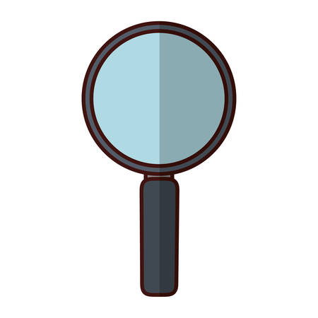 inspector: magnifying glass lupe icon vector illustration graphic design Illustration