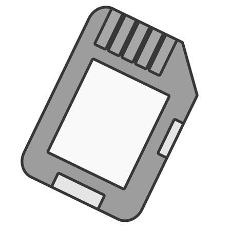 storage device: Microsd flash memory icon vector illustration graphic design