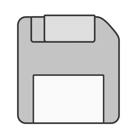 pc case: diskette storage technology icon vector illustration graphic design Illustration