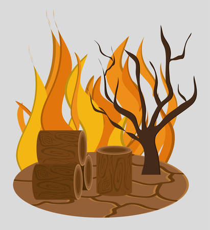 forest fire icon image vector illustration design