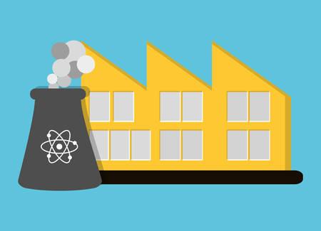 contamination: nuclear plant icon image vector illustration design