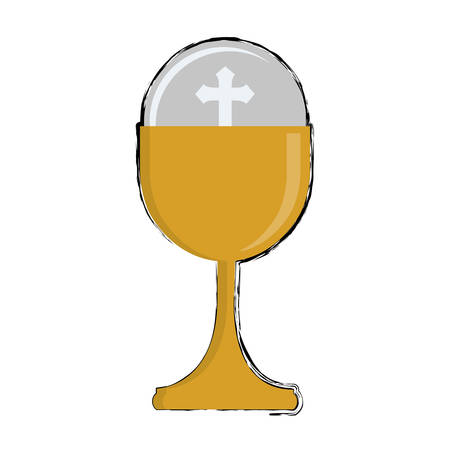 holy grail icon over white background. colorful design. vector illustration