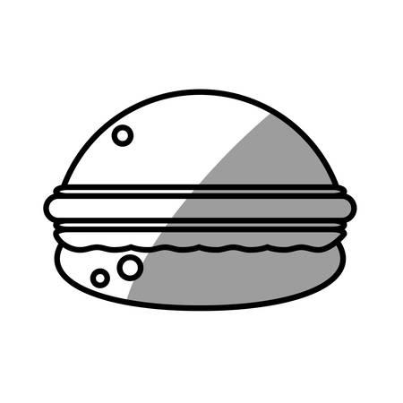 burger food picnic shadow Illustration