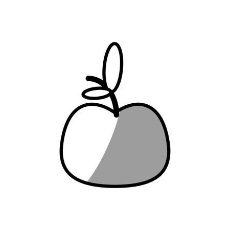 apple fruit fresh food picnic shadow Illustration
