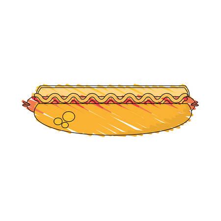 drawing hot dog food image