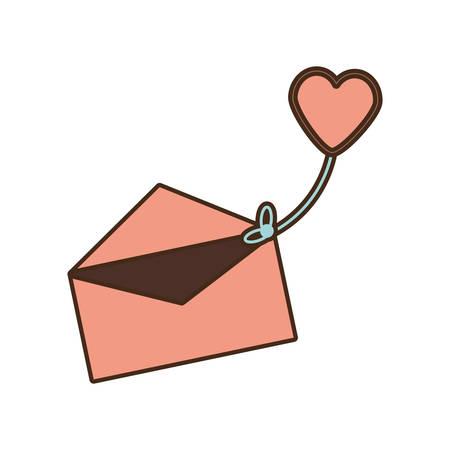mail message celebration greeting love vector illustration eps 10