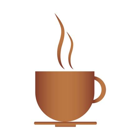 break time: hot coffee cup icon over white background. vector illustration Illustration