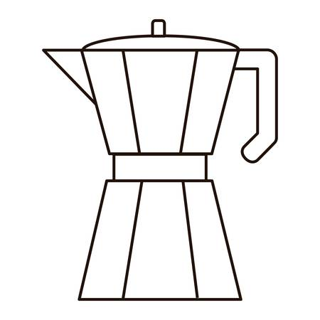 wite: italian coffee maker icon over wite background. vector illustration