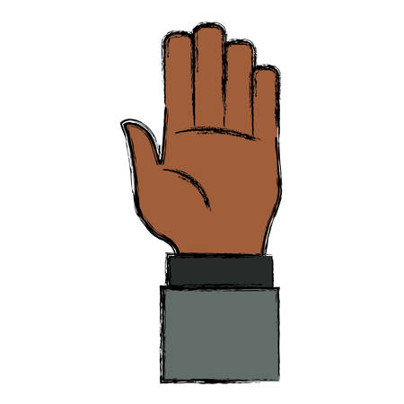 forefinger: Hand number symbol icon vector illustration graphic design