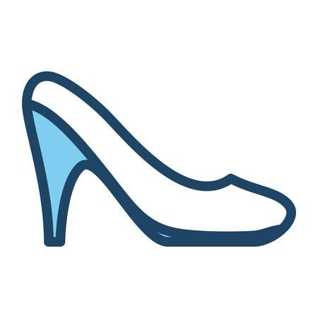 Woman heel footwear icon vector illustration graphic design Illustration