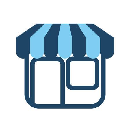 shopping center interior: Shop store symbol icon vector illustration graphic design