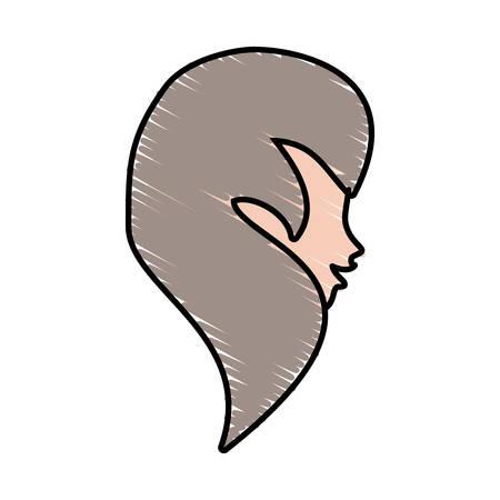 Cute profile woman avatar vector illustration eps 10 Illustration