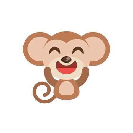 cute monkey animal character funny vector illustration eps 10 Illustration