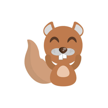 beaver tail: cute beaver animal character funny vector illustration eps 10