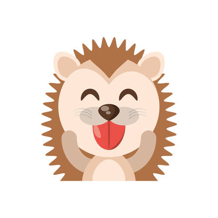 cute porcupine animal character funny vector illustration eps 10