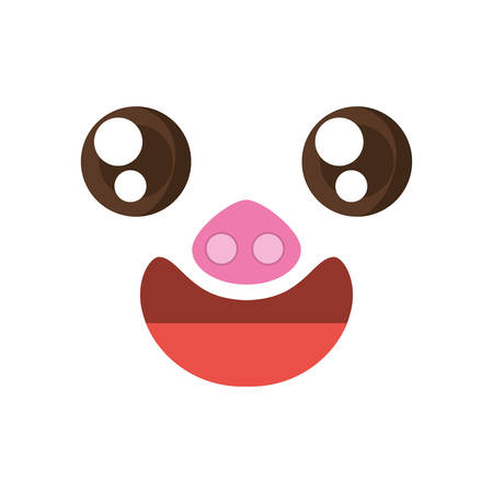 baby seal: A kawaii face piggy animal expression icon vector illustration eps 10 Illustration