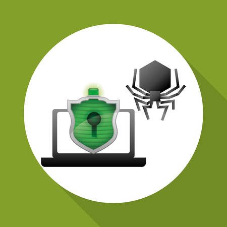 malware: Security System concept with icon design. Illustration