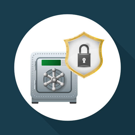 Security System concept with icon design. Illustration