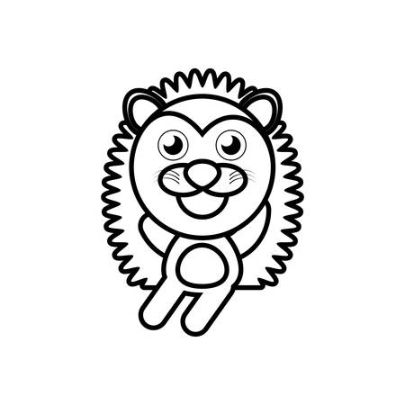 funny baby: Cartoon porcupine animal outline vector illustration eps 10