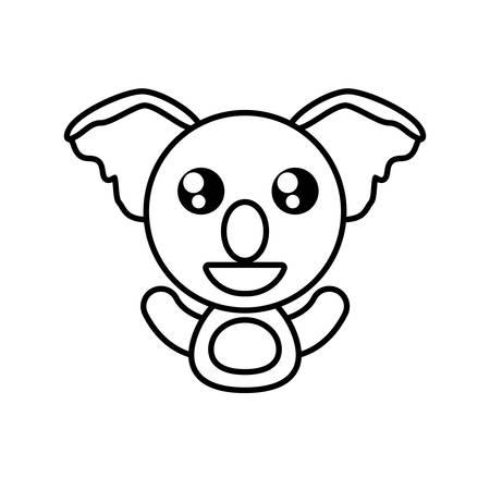 koala animal toy outline vector illustration eps 10