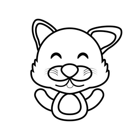 wolf animal toy outline vector illustration eps 10