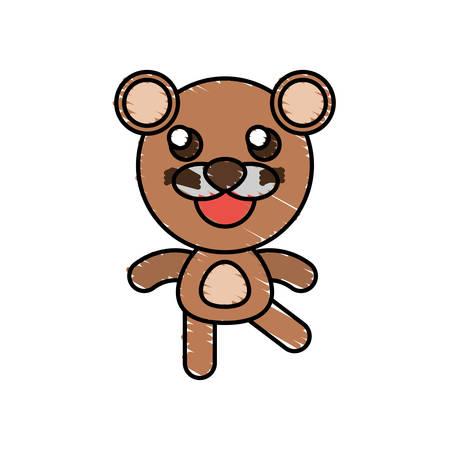 funny baby: Drawing bear animal character vector illustration eps 10 Illustration
