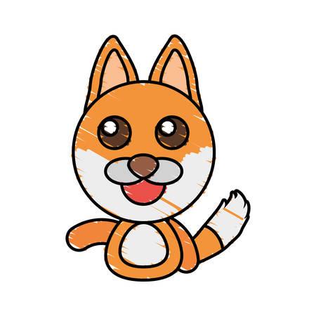 draw fox animal comic vector illustration eps 10 向量圖像