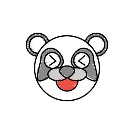 funny baby: cute panda drawing animal vector illustration
