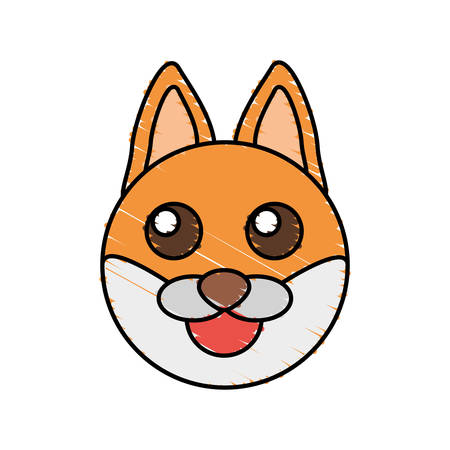 cute fox drawing animal vector illustration 向量圖像
