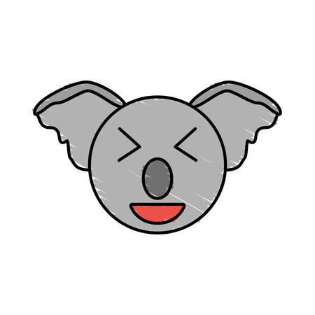 cute koala drawing animal vector illustration