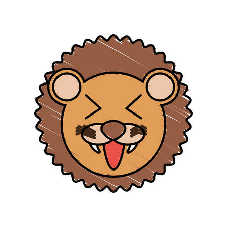 funny baby: cute lion drawing animal vector illustration eps 10