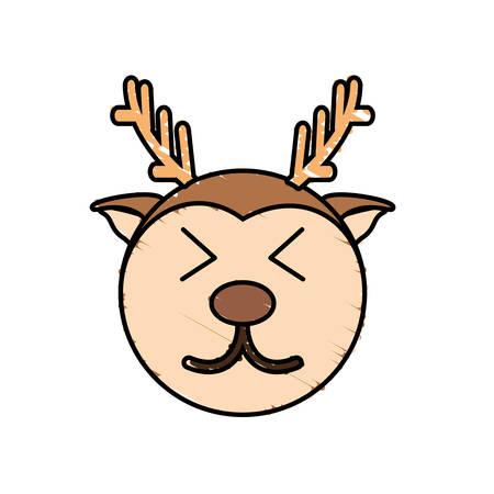funny baby: cute deer drawing animal vector illustration