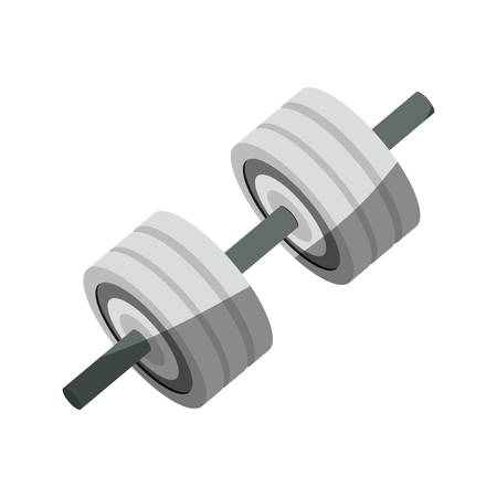 weight machine: Gym and fitness equipment icon vector illustration graphic design