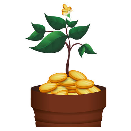 お金のシンボル アイコン ベクトル イラスト グラフィック デザインを播種  イラスト・ベクター素材
