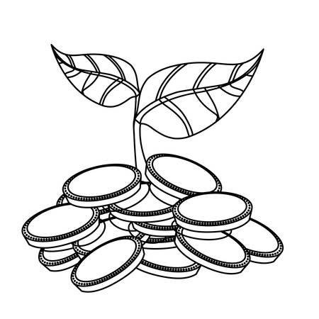 お金のシンボル アイコン ベクトル イラスト グラフィック デザインを播種