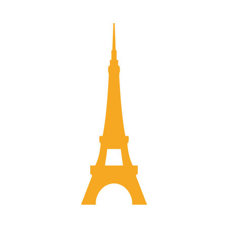 european culture: Eiffel tower architecture icon vector illustration graphic design