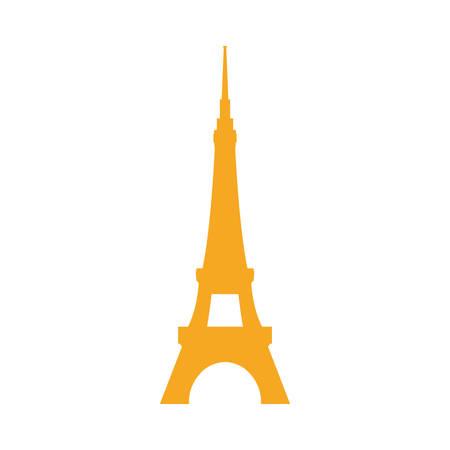 Eiffel tower architecture icon vector illustration graphic design