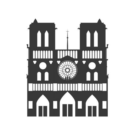 Notre Dame Cathedral icon vector illustration graphic design Illustration