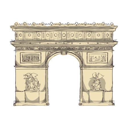 triumphal: Arch of triumph paris icon vector illustration graphic design