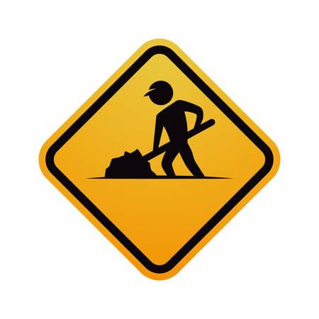 Under construction road sign icon vector illustration graphic design Illustration