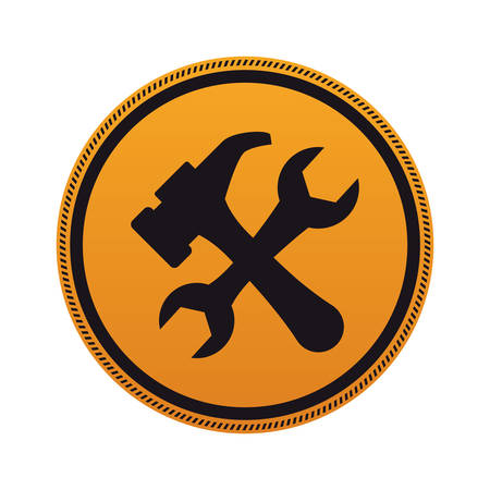 guidepost: Under construction road sign icon vector illustration graphic design Illustration